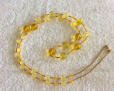 Necklace Yellow Beaded