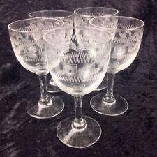 Etched Edwardian Glass