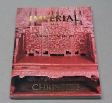 Christie's Hong Kong 1997 Imperial Sale Auction Catalog Chinese Qianlong Emperor