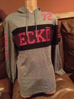 New Auth Men's Ecko Unltd Stripe L/S Grey Marled Shirt Hoody Medium Retails $40