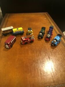 Thomas And Friends 8 Piece Lot - Trains,Bus,FiretruckCars And Tender