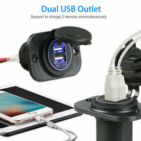 3.1A Dual USB Port Charger Socket Outlet Waterproof 12V LED for Car Universal