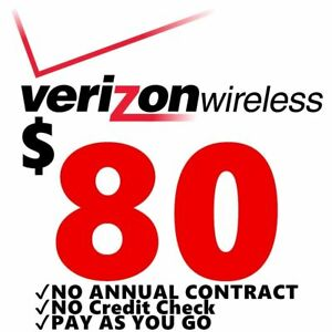 Verizon Wireless- $80 Refill,  Top-Up Airtime Card for Verizon Prepaid Service