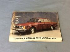 Volvo 240 242 244 245 DL GL GT Owners Manual 1980 USA Canada BN1A