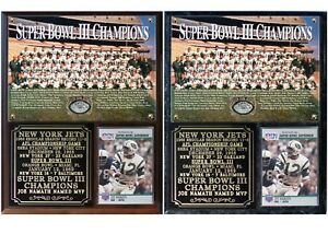 New York Jets Super Bowl III Champions Photo Card Plaque