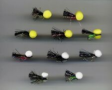 Trout Flies: Mosaic Boobies x 10 size 10 &12 assorted (code 082b)