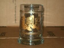VINTAGE CULVER GLASS MUG WITH GOLD COWBOY BOOTS