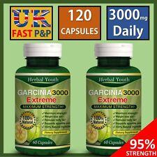 120 CAPSULES 3000mg Ultra Pure GARCINIA CAMBOGIA Lose Weight Slimming Pills Fast