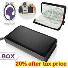 More details for 80x car storage holder case wallet organizer portable disc cd vcd dvd carry bag