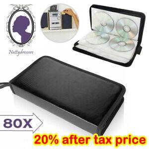 80x Car Storage Holder Case Wallet Organizer Portable Disc CD VCD DVD Carry Bag