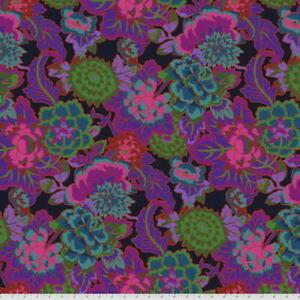 Free Spirit Kaffe Fassett Cloisonne Lge Scale Floral PWGP046.Purple Fabric BTY