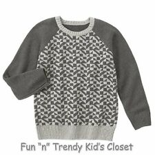 NWT Gymboree KING OF COOL Boys Size Small 5-6 Geo Long Sleeve Pullover Sweater