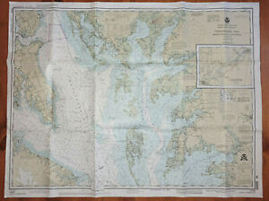Nautical Chart Map LOT OF 3 Martha's Vineyard, Chesapeake Bay