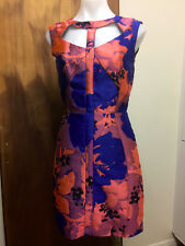 COOPER ST STREET ladies day cocktail dress Mother of Bride 8 S XS blue floral