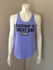 VICTORIA'S SECRET PINK CHEAT DAY GRAPHIC TANK TOP NEW WITH TAGS SIZE SMALL