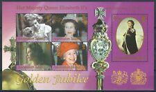 Ascension - 50 Jahre Thron Königin Elisabeth Block 46 postfrisch 2002 Mi 866-870