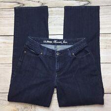 LL Bean Favorite Jeans Size 6 Womens Curvy Fit Dark Wash Denim Straight Leg