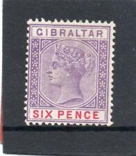 Gibraltar Vic. 1898 6d violet & red sg 44 VLH.Mint