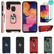 For Samsung Galaxy A20/A30/A50 Rugged Armor Rubber Case Cover+Screen Protector