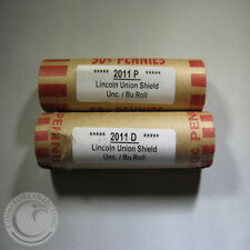 2011 P&D OBW LINCOLN UNION SHIELD UNC/BU ROLLS OUT OF BANK BOXES