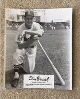 VTG 1950'S Stan Musial St. Louis Cardinals Rawlings Advisory Staff  8 x 10 Photo