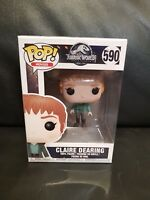 POP CLAIRE DEARING #590 JURASSIC WORLD Vinyl Action Figure New