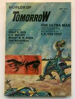 WORLDS of TOMORROW PHILIP K. DICK  MAY 1966 COVER by MORROW VINTAGE SCI FI