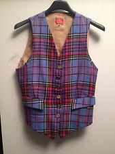 Gilet donna Vivienne Westwood vintage lana tartan wool madras waistcoat