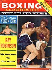 1960 (Mar.) Boxing Illustrated/Wrestling News magazine, Ray Robinson ~ Good