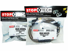 Stoptech Stainless Steel Braided Brake Lines (Front & Rear Set / 34005+34523)