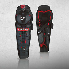 New CCM Crazy Light U+ CL ice hockey shin guards Junior Jr 11""