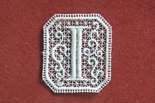 Oblong letter/initial I - sew-on lace motif/applique/patch/craft/card making