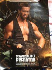 Arnold Schwarzenegger signed poster *** Predator **