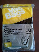 Home Care Vac 3 Bags Eureka Bravo and Powerline Style U No. 3045 Vacuum Vip 2030