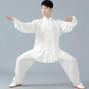 Men's Casual Chinese Tai Chi Suit Kung Fu Shirts+Pants Wushu Uniform Martial Art