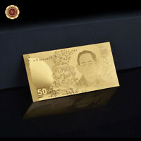 WR 2012 Thaïlande 50 BAHT Golden Commemorative Billet de banque