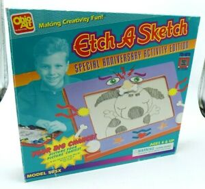 1995 Etch A Sketch OPEN BOX Model 505X Special 35 Anniversary Activity Edition