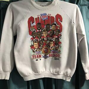 VTG 1989/90 San Francisco 49ers Sweatshirt Super Bowl XXIV Team Montana Rice XL