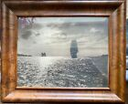 VINTAGEPHOTO * EVENING SCENE OF GOLDEN GATE Sailing Ships BY W.E WORDEN c1910