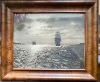 VINTAGE PHOTO * EVENING SCENE OF GOLDEN GATE  Sailing Ships BY W.E WORDEN c1910