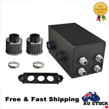 Black Pro Series Oil Catch Can Fit For Honda Civic Acura Integra 4 Port -10AN