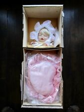 """Franklin Mint Gibson Christening 18"""" Doll With Box And Coa"""