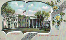 Washington,D.C.White House,North Front,Floral Border,c.1901-06