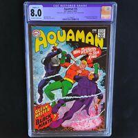 AQUAMAN #35 (DC 1967) 💥 CGC 8.0 Restored 💥 1ST APP of BLACK MANTA!