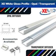 2 Meters White Aluminium LED Profile Extrusion Channel Mini LED Strip Lights