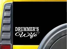Drummer Wife K399 8 inch Sticker drum kit decal