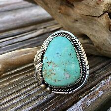 Royston Large Sterling Silver Ring| Turquoise Jewelry | Silver Rings | Bohemian