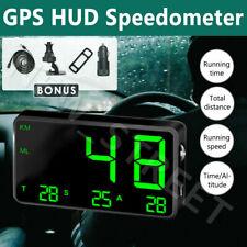 Universal HUD Head UP GPS Speedometer Digital Display Car Speed Warning Plug NEW