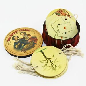 Thaumatrope The magic circle. Set of 12 optical antique animation toys