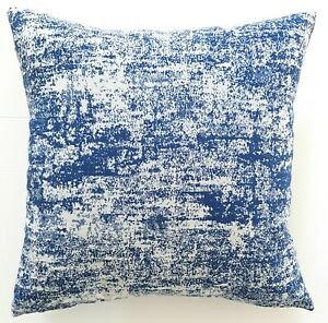 Cushion Cover Textured Blue & Off White Hanmade Home Decor 45x45 or 50x50 New